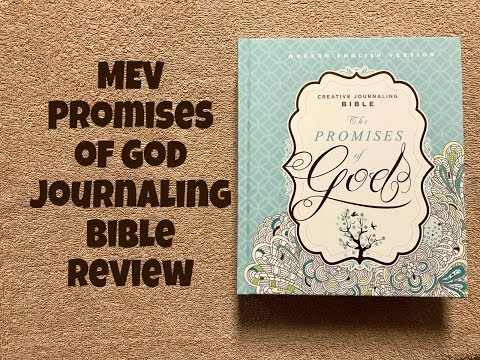 MEV Promises of God Creative Journaling Bible Review