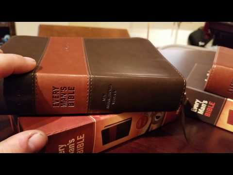 Every Man's Bible Review (Standard NLT, Standard NIV and the Large Print NLT) in varying LeatherLike