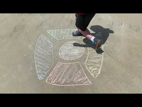 Sidewalk Chalk Simon Game