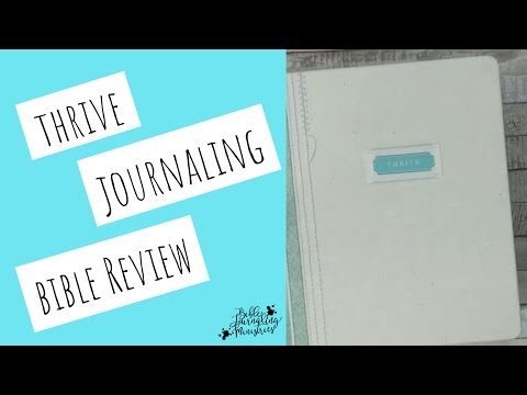 Thrive Bible Journaling Review - The Pros and Cons of the Thrive Bible Journal