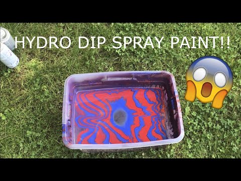 How To HYDRO DIP Using Only SPRAY PAINT!!!
