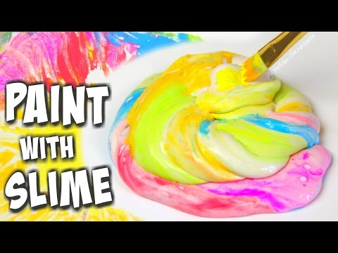 PAINTING WITH SLIME - How To | SoCraftastic