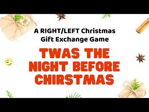 Twas The Night Before Christmas Gift Exchange Game