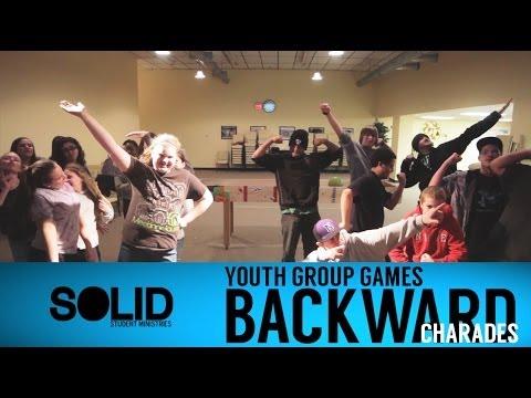 Youth Group Games - Backward Charades