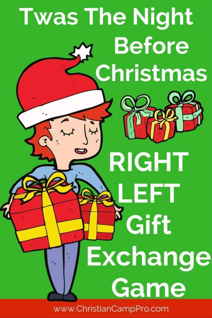 graphic about Left Right Christmas Game Printable known as Twas The Night time Right before Xmas Reward Change Match