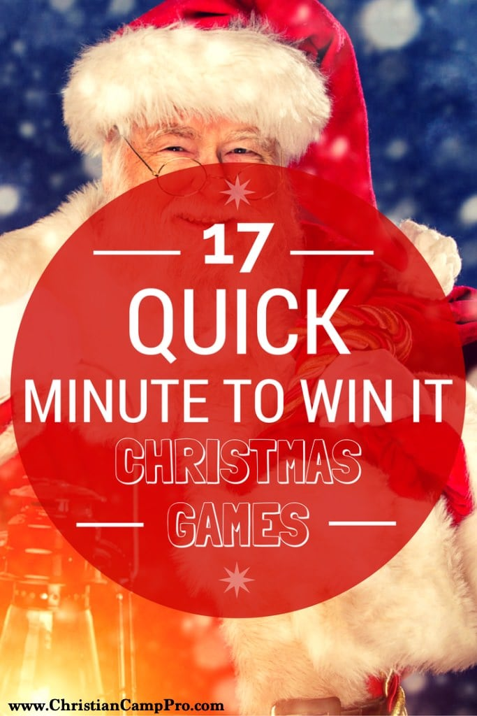 17 quick minute to win it christmas games
