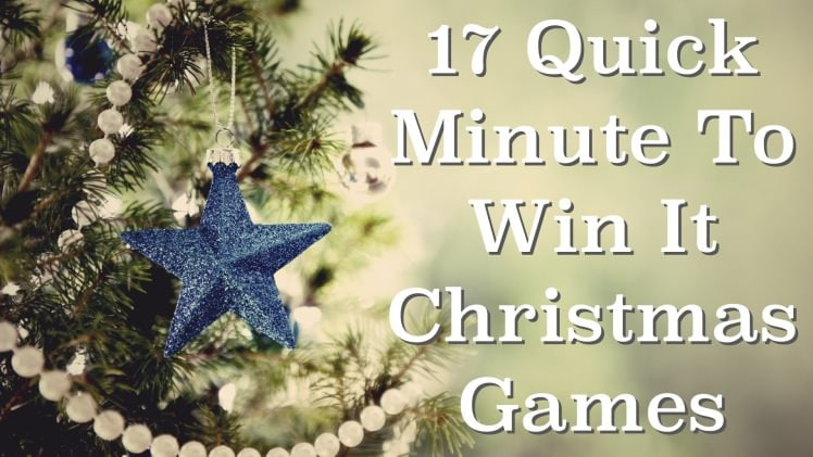 17 quick minute to win it christmas games for your christmas events