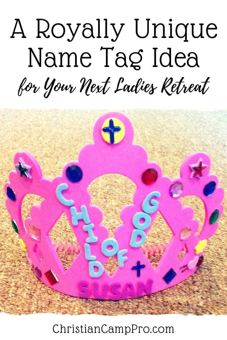 Royal crown Name Tag Idea