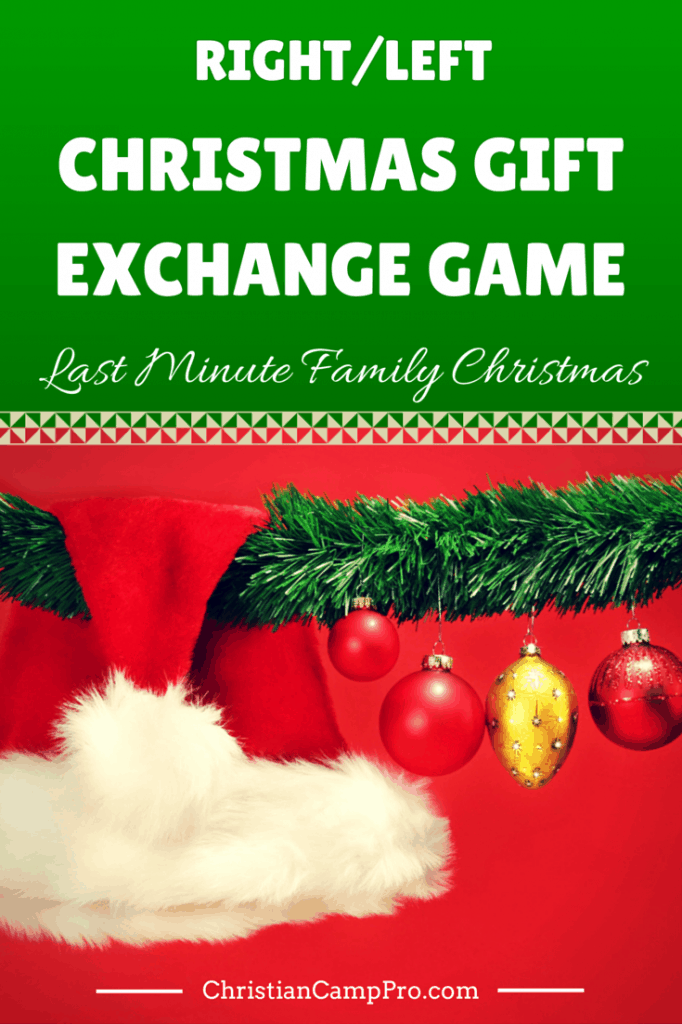 Christmas Gift Exchange Ideas.Right Left Christmas Gift Exchange Game Last Minute Family