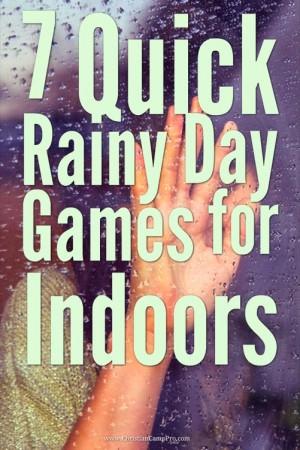 indoor rainy day games