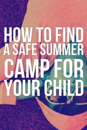 safe summer camp for child