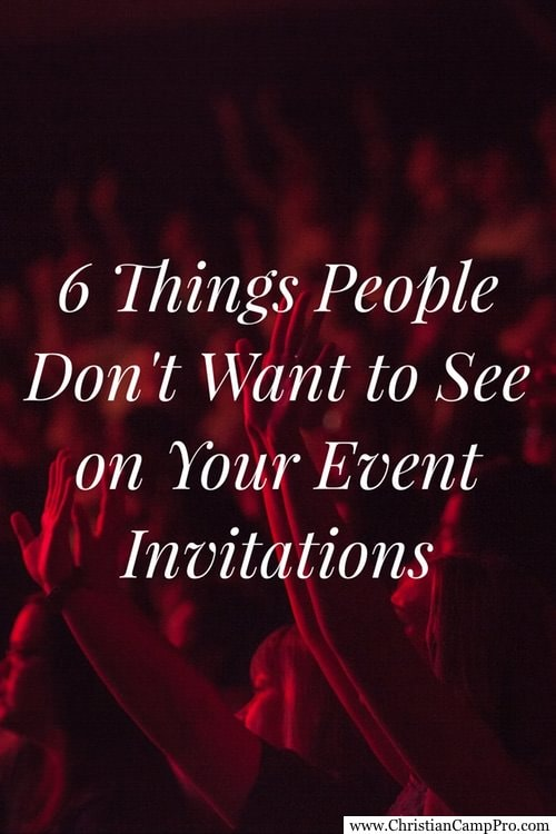 6 things people don u0026 39 t want to see on your event