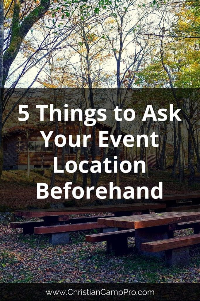 Things to Ask Your Event Location Beforehand