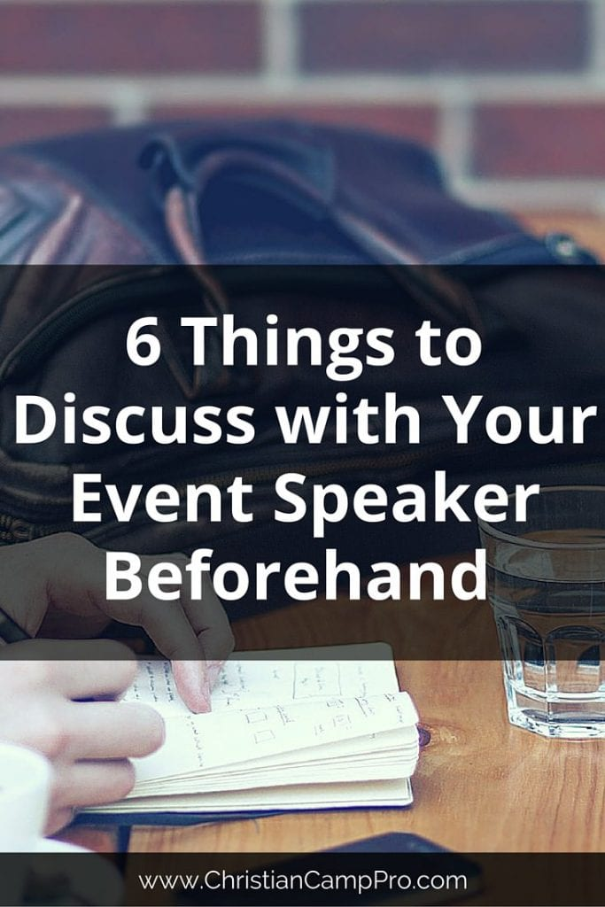 Things to Discuss with Your Event Speaker Beforehand