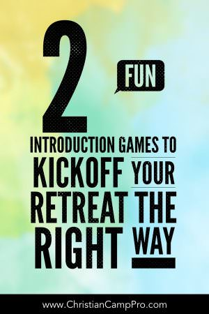 fun introduction games for retreat