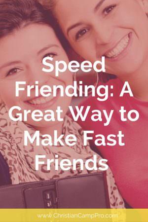 speed friending icebreaker