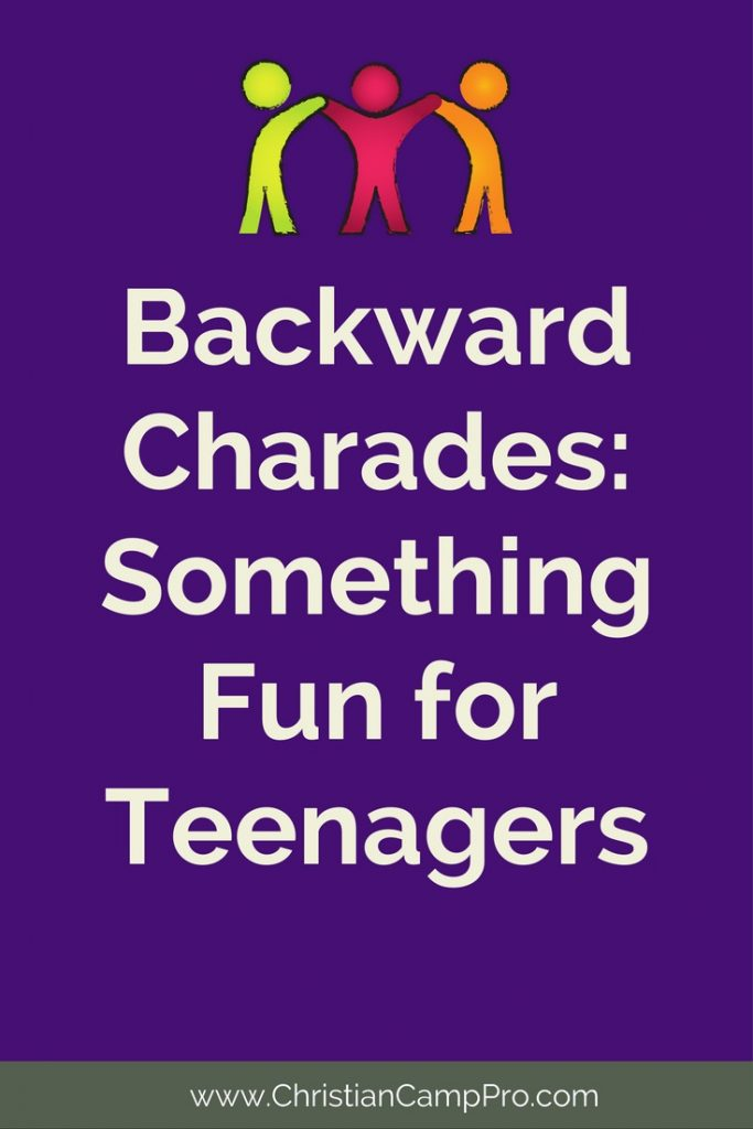 Fun Game For Teends Backwards Charades on action words for kids