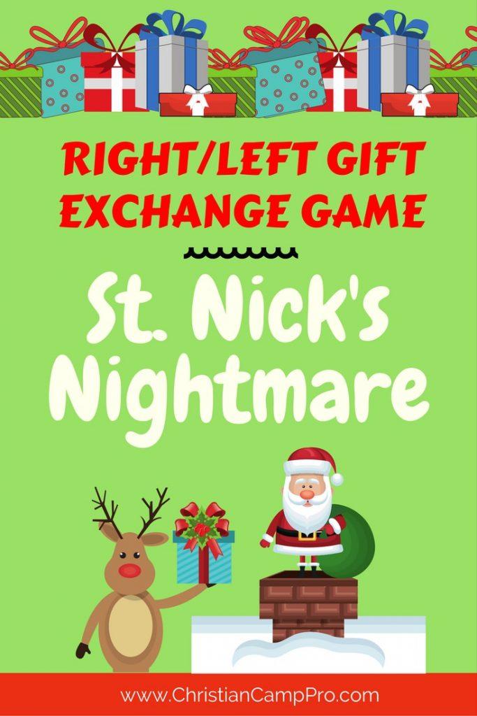 Left/Right Gift Game – Saint Nick's Nightmare