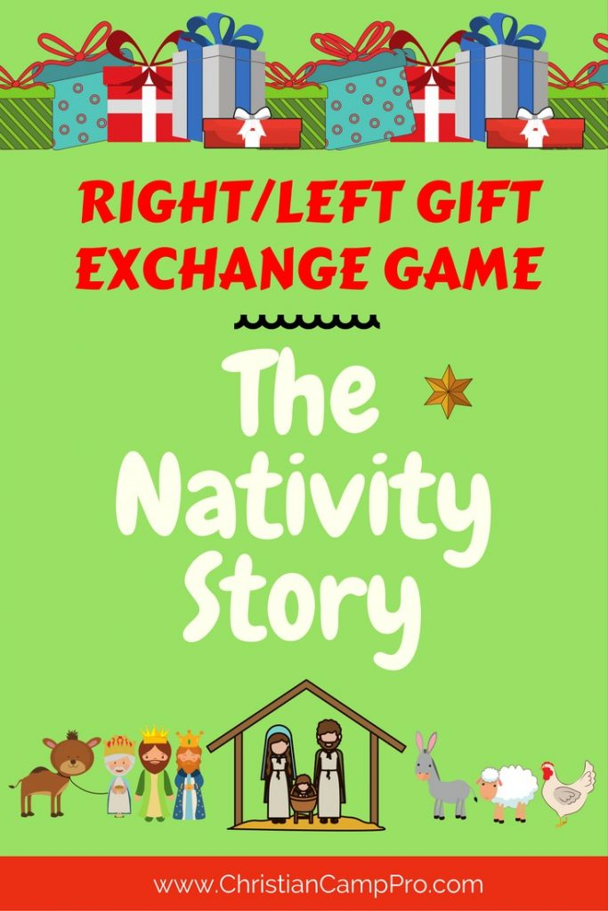 Right left gift exchange game the nativity story Good gifts for gift exchange