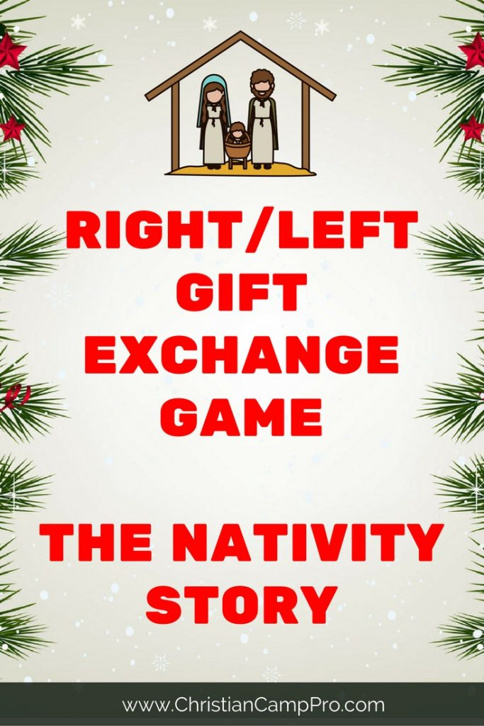 right left gift exchange game nativity story - Christian Camp Pro