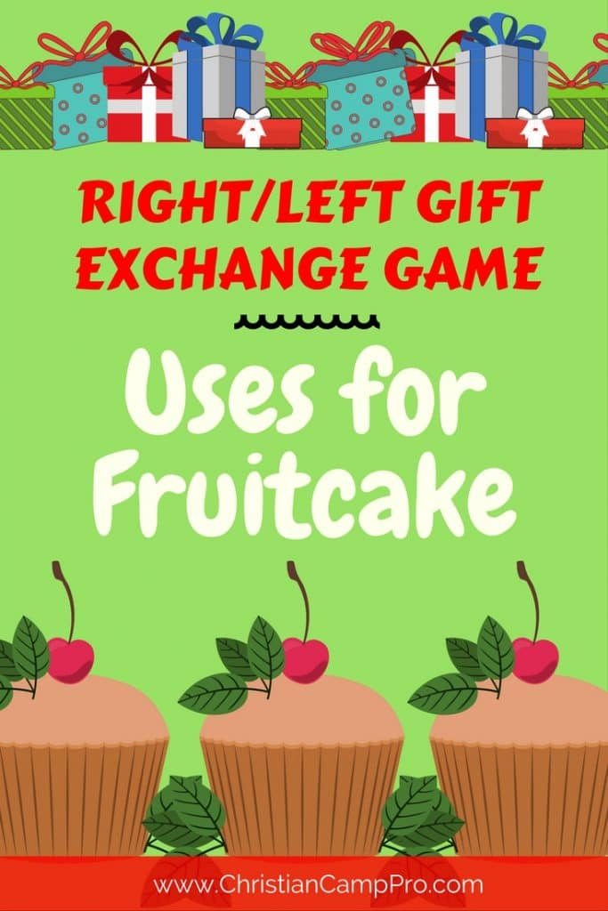 RIGHT/LEFT GAME – Uses for Fruitcake