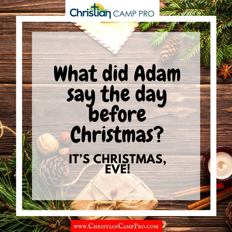adam and even christmas joke