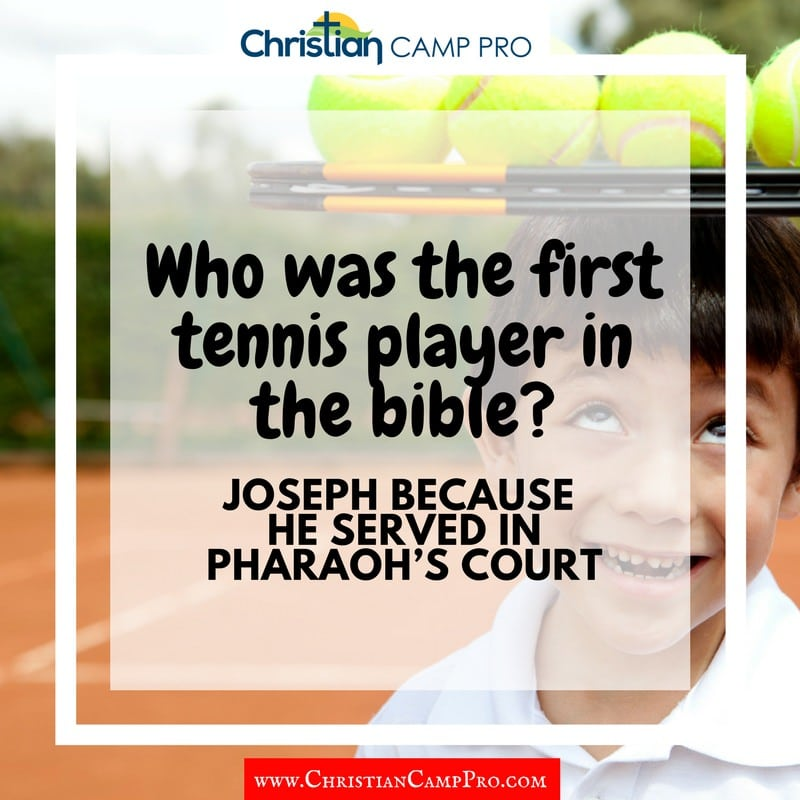 first tennis player in bible