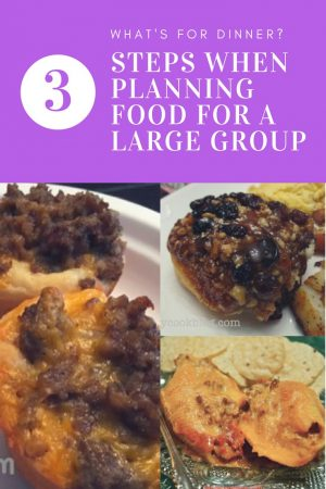 planning food for a large group