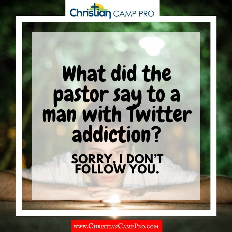 what did the pastor say to the man with Twitter addiction