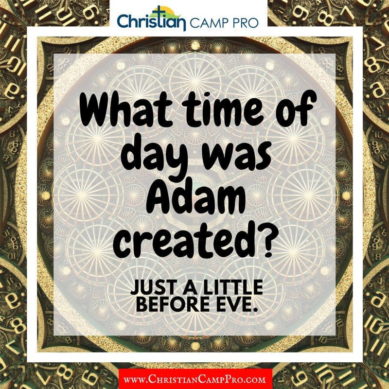what time of day was adam created