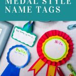 DIY Medal Style Name Tags