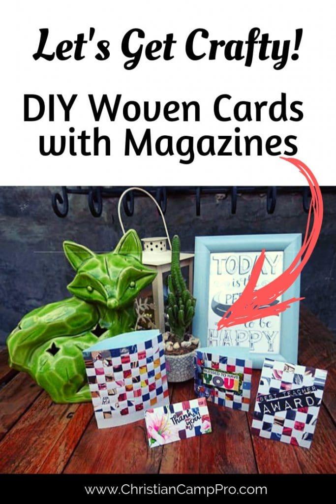 DIY Woven Card Using Magazines