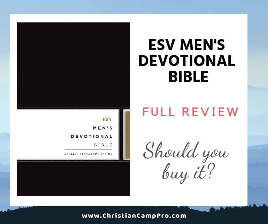 ESV Mens Devotional Bible Review