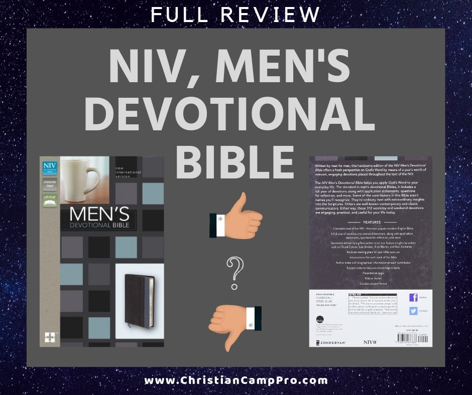 NIV Devotional Bible for Men