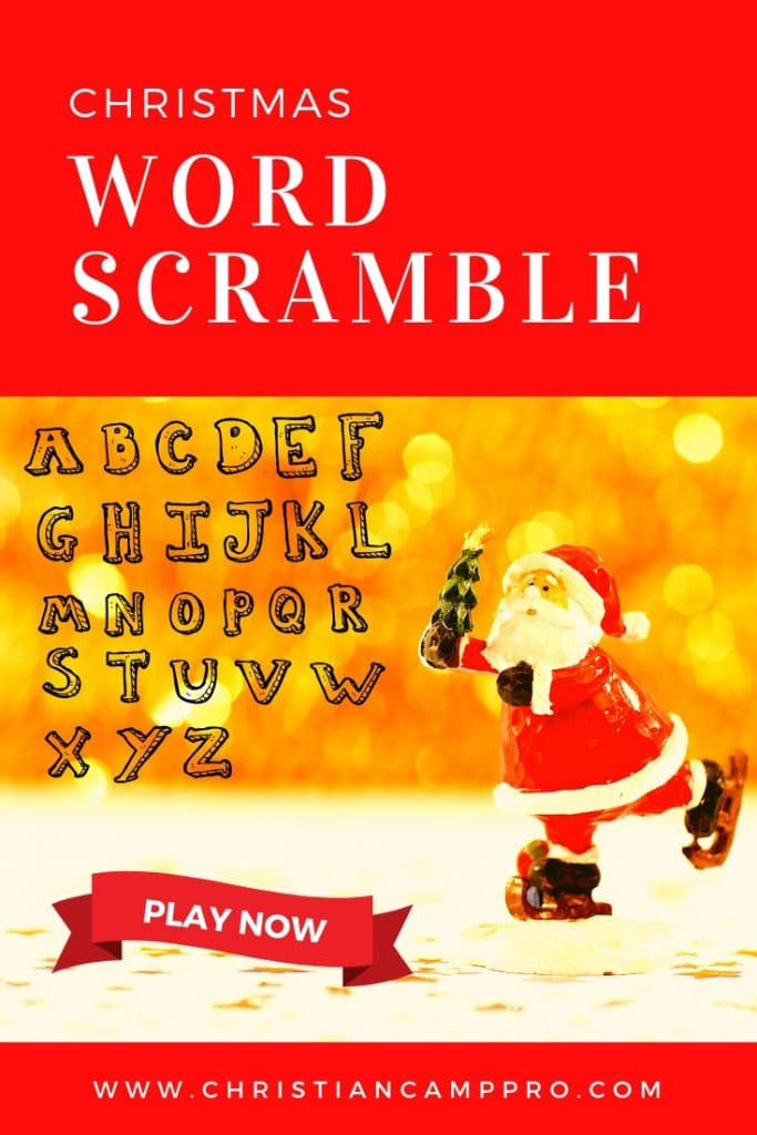 Christmas Word Scramble.Christmas Word Scramble Game Christian Camp Pro