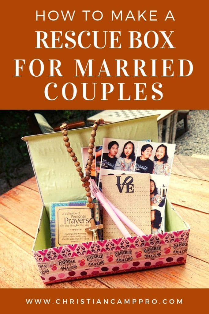 DIY Rescue Box Craft for Married Couples - Christian Camp Pro