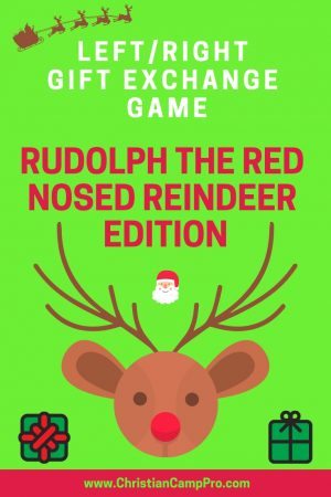 left right game rudolph the reindeer story