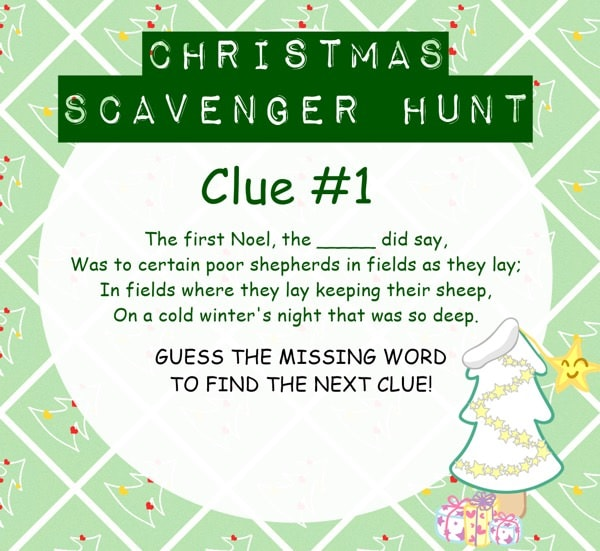 graphic about Christmas Scavenger Hunt Printable Clues named Xmas Scavenger Hunt - A Ought to Consider! - Christian Camp Qualified