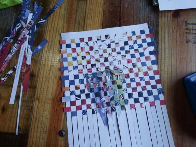 diy woven cards step 4