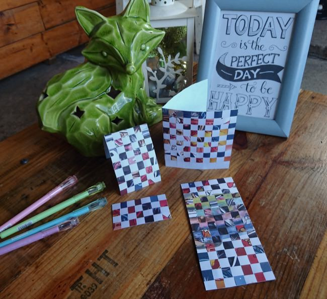 diy woven cards step 6