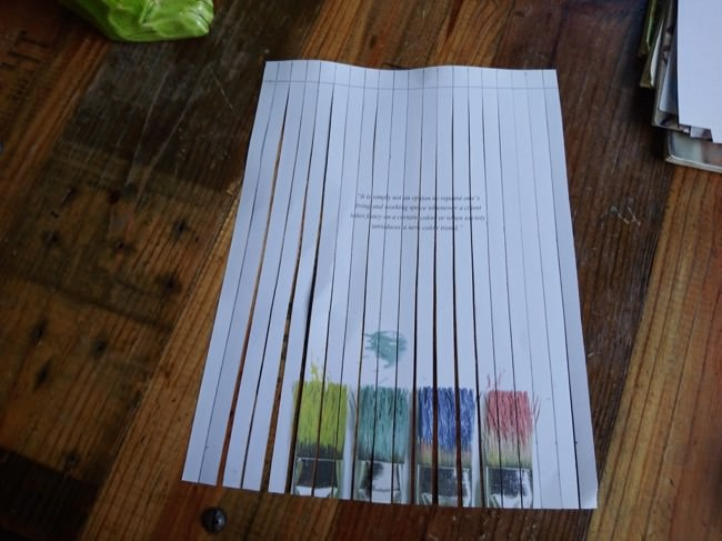 diy woven cards step 1b