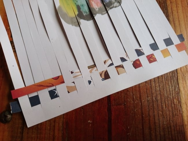 diy woven cards step 3d
