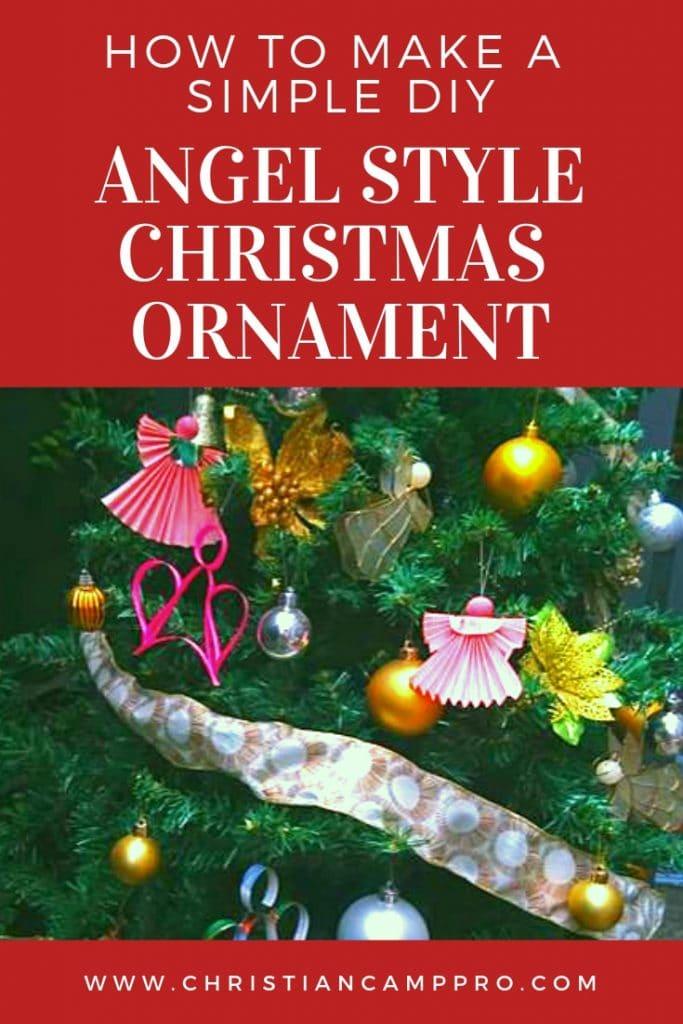 how to make angel christmas ornament