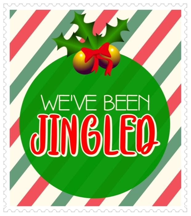 photograph relating to You've Been Elfed Free Printable named Youve Been Jingled: A Xmas Match that Spreads Contentment