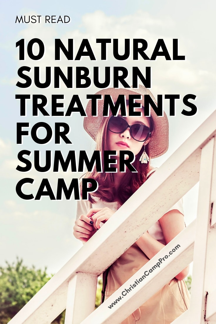 sunburns at summer camp