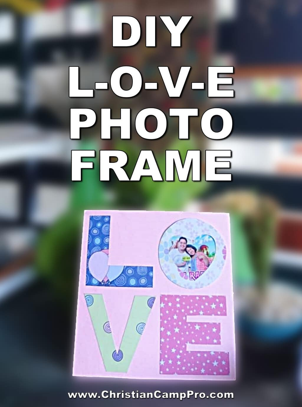 love photo frame craft