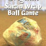 christmas saran wrap ball game