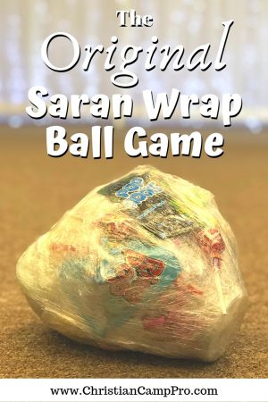 christmas saran wrap ball game