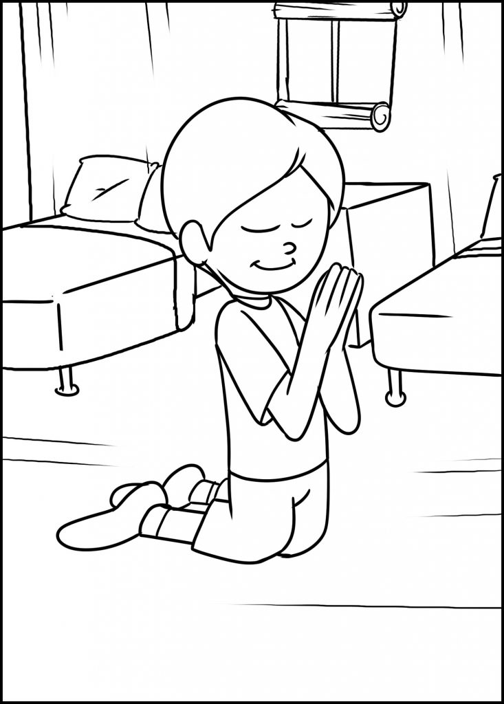 kid praying before bed