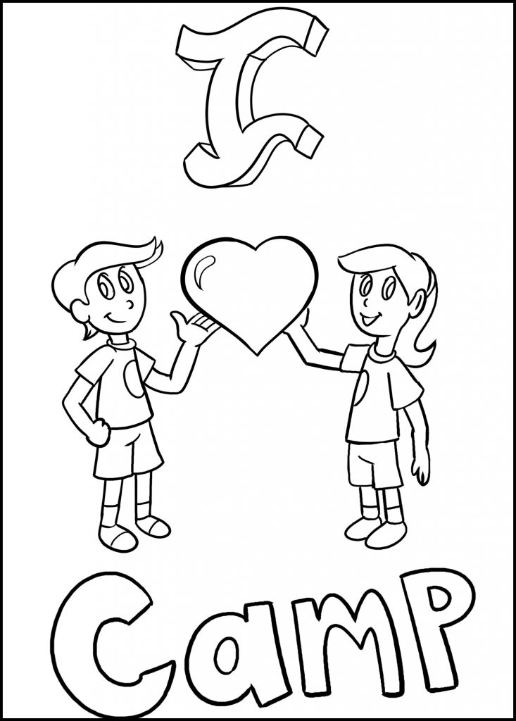 I love camp coloring image